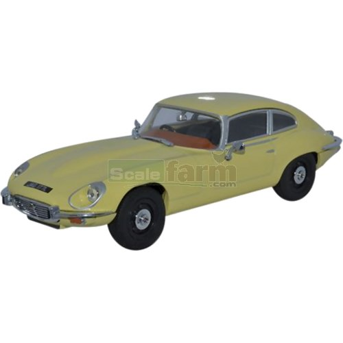 Jaguar E-Type V12 Coupe - Primrose Yellow (Oxford JAGV12002)