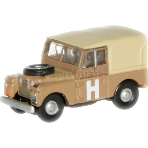 "Land Rover Series I 88"" Canvas - Sand Military (Oxford NLAN188002)"