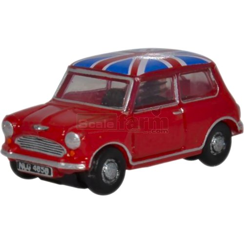 Classic Mini - Tartan Red/Union Jack (Oxford NMN001)