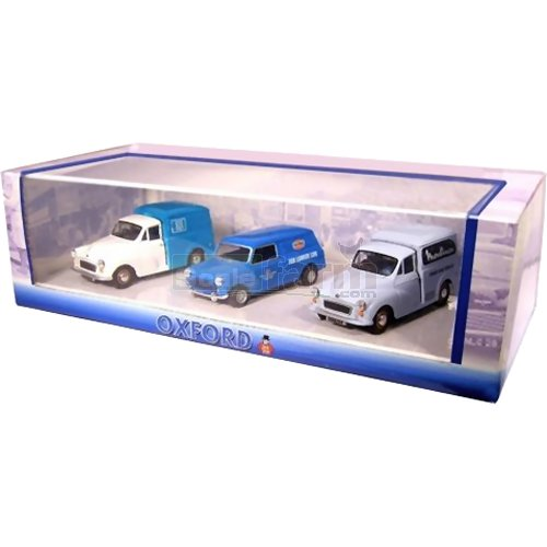 Corner Shop Delivery Vehicle 3 Car Set - Mini / Morris Minor (Oxford SET19)