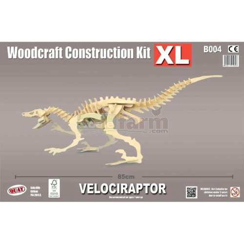 X-Large Velociraptor Woodcraft Construction Kit (Quay B004)