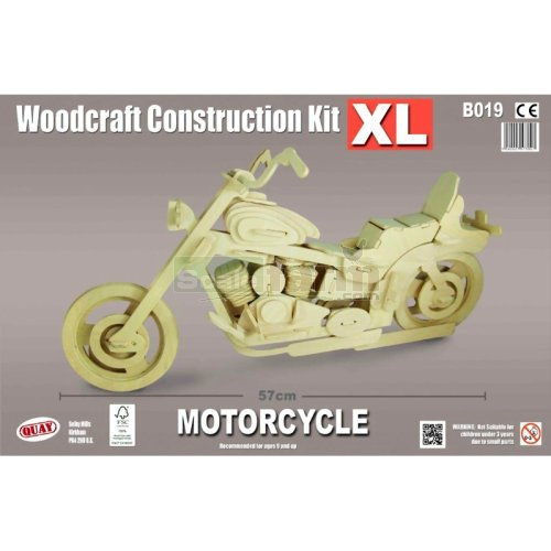X-Large Motorcycle Woodcraft Construction Kit (Quay B019)