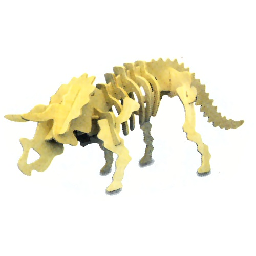 Small Triceratops Woodcraft Construction Kit (Quay J001)