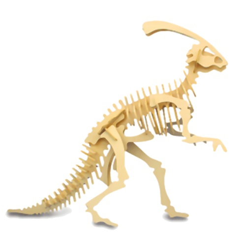 Small Parasaurolophus Woodcraft Construction Kit (Quay J015)