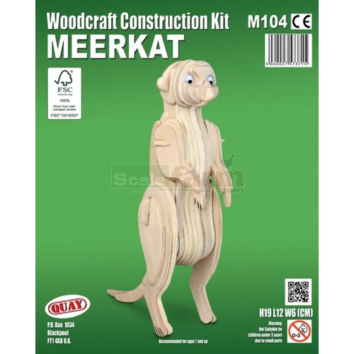 Meerkat Woodcraft Construction Kit (Quay M104)