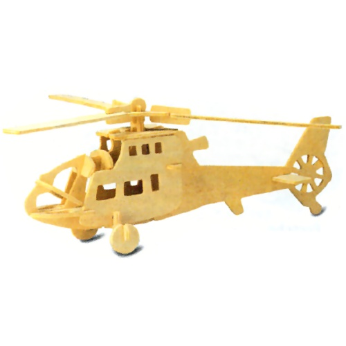 Helicopter Woodcraft Construction Kit (Quay P007)