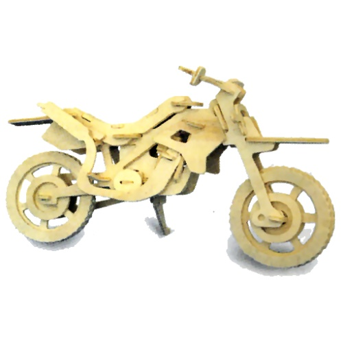 Cross-Country Motorbike Woodcraft Construction Kit (Quay P022)