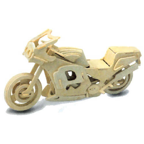 Racing Motorbike Woodcraft Construction Kit (Quay P023)