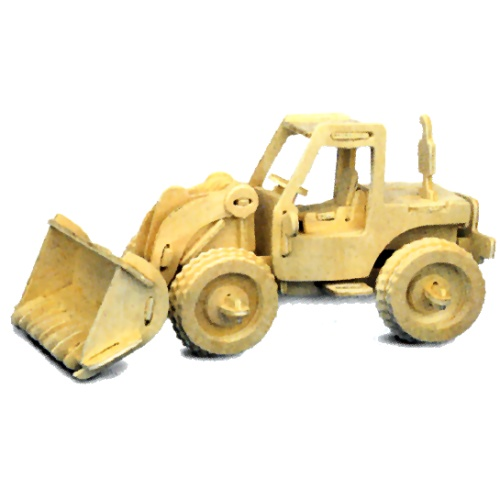 Bulldozer Woodcraft Construction Kit (Quay P029)