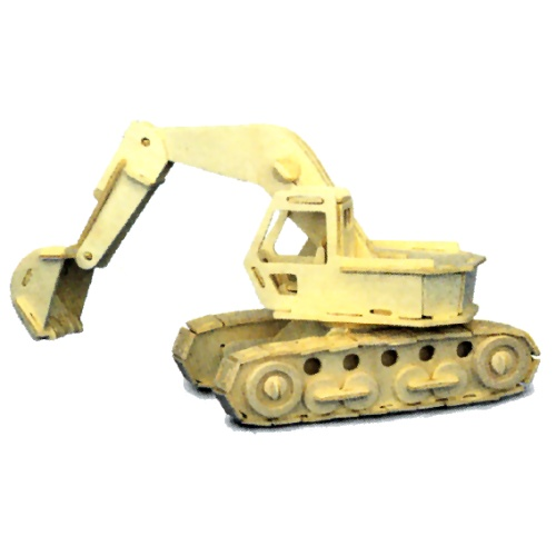 Excavator Woodcraft Construction Kit (Quay P043)