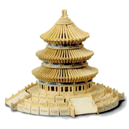 Temple of Heaven Woodcraft Construction Kit (Quay P075)