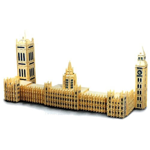 Houses of Parliament Woodcraft Construction Kit (Quay P125)