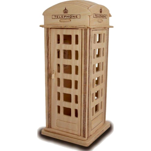 Phone Box Woodcraft Construction Kit (Quay P313)