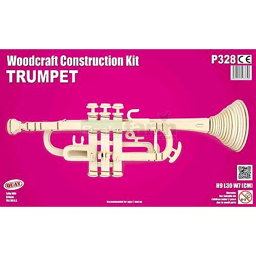 Trumpet Woodcraft Construction Kit (Quay P328)
