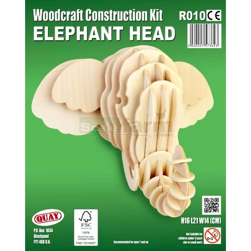 Elephant Head Woodcraft Construction Kit (Quay R010)