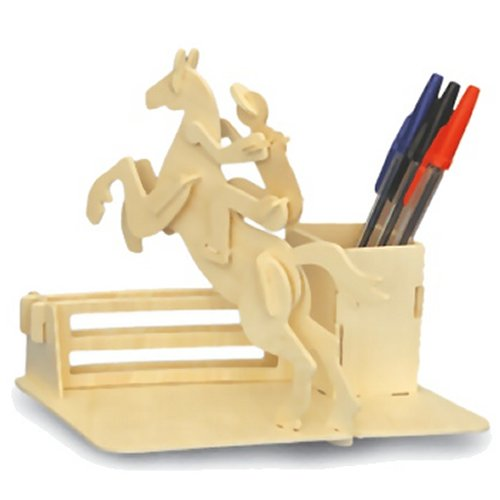 Horse Riding Pen Holder Woodcraft Construction Kit (Quay S010)