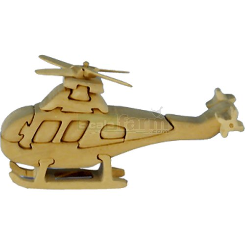 Helicopter Wooden Puzzle (Quay TD007)
