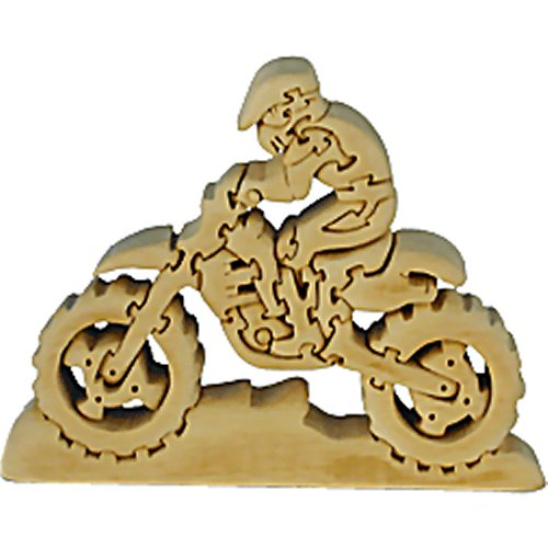 Motor Cross Rider and Bike Wooden Puzzle (Quay TD021)