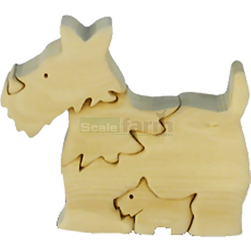 Scottish Terrier Dog Wooden Puzzle (Quay TD026)