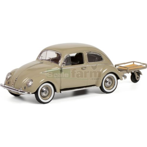 VW Beetle with Trailer - Auto Porter (Schuco 02692)