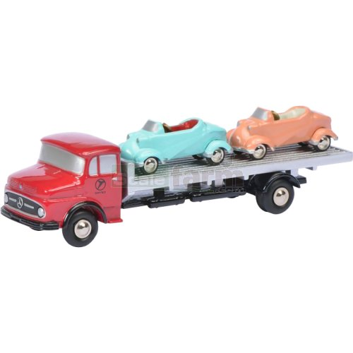 Mercedes Benz L322 Truck with 2 Messerschmitt Cars (Schuco 05866)