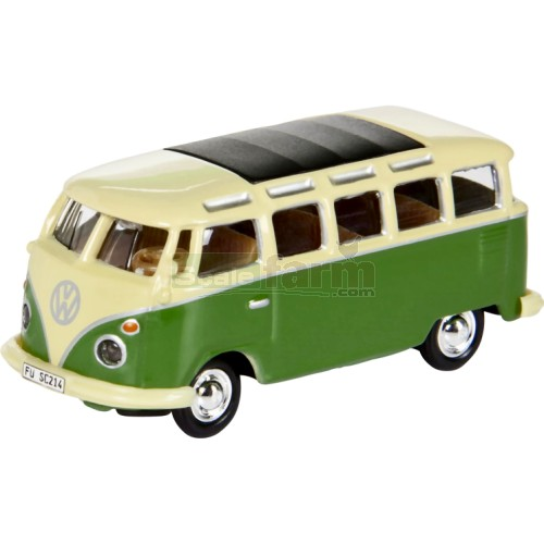 VW T1 Samba Bus - Cream & Green (Schuco 25999)
