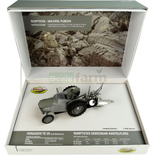Ferguson TE20 with Sirocco Cab and Rumptstad Eenschaar Plough (Universal Hobbies 5364)