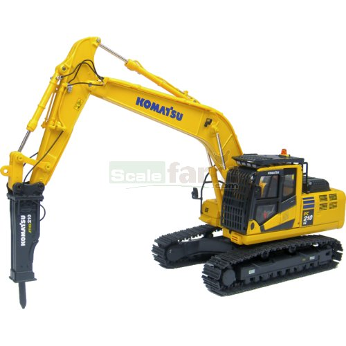 Komatsu PC210 LC-10 Excavator with Hydraulic Breaker (Universal Hobbies 8096)