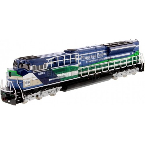 EMD SD70ACe-T4 Locomotive 'Progress Rail' (Blue & Green) (Diecast Masters 85534)