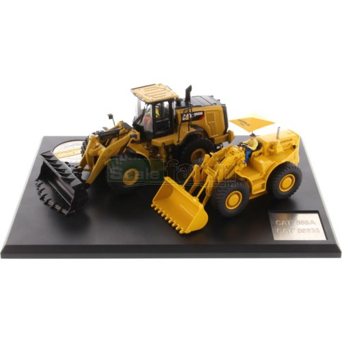 CAT 966A Wheel Loader & CAT 966M Wheel Loader (Diecast Masters 85558)