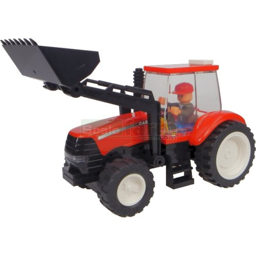 Case IH Tractor with Front Loader Building Block Kit (Universal Hobbies K1204)
