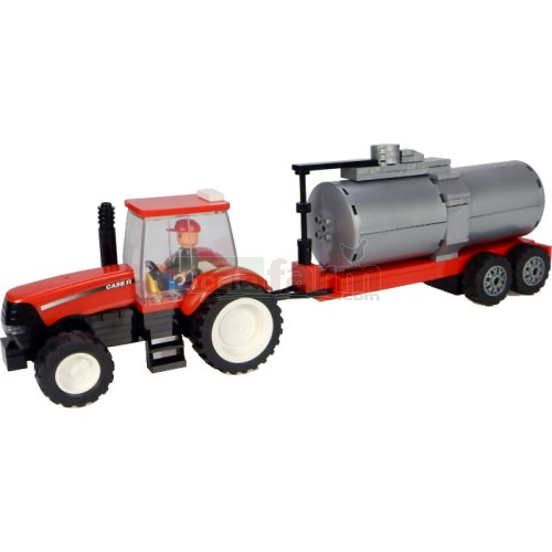 Case IH Tractor with Tanker Trailer Building Block Kit (Universal Hobbies K1207)