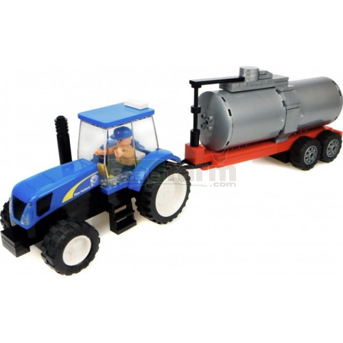 New Holland Tractor with Tanker Building Block Kit (Universal Hobbies K1212)