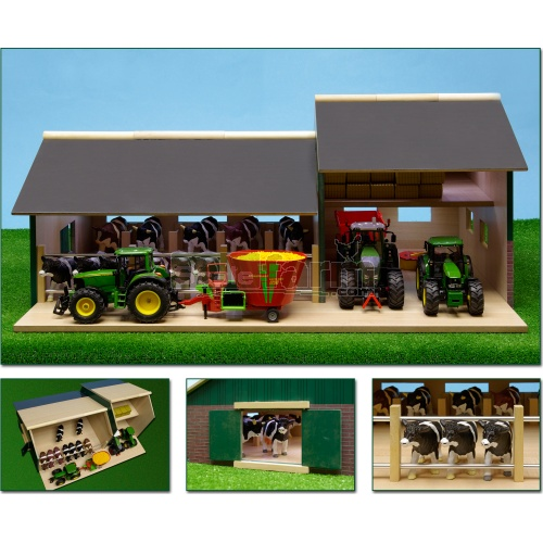 Wooden Stable With Barn (Kids Globe 610409)