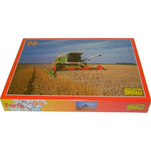 Farming Scene Jigsaw - CLAAS MEGA Combine Harvester (Fame Puzzles 610437)