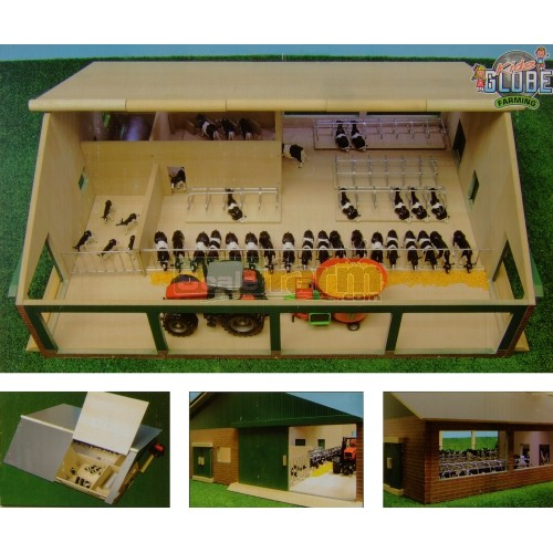 Wooden Cow Shed With Milking Parlour (Kids Globe 610495)