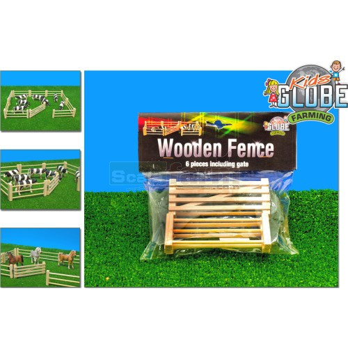 Wooden Fence & Gate Set (6 pack) (Kids Globe 610667)