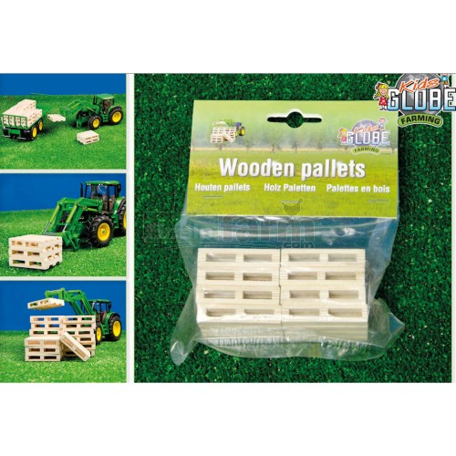 Wooden Pallets (Pack of 8) (Kids Globe 610761)