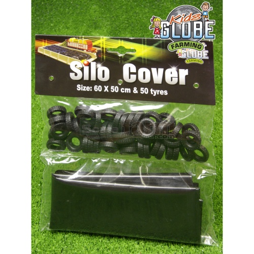 Plastic Silo Cover And 50 Tyres (Kids Globe 611884)