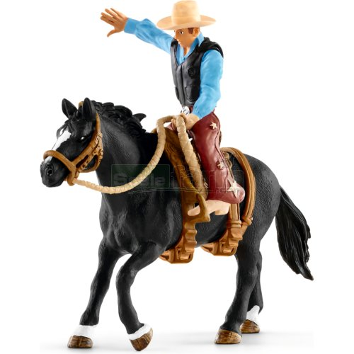 Saddle Bronc Riding with Cowboy (Schleich 41416)