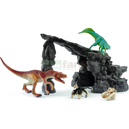 Dino Cave and 3 Dinosaurs Set (Schleich 41461)