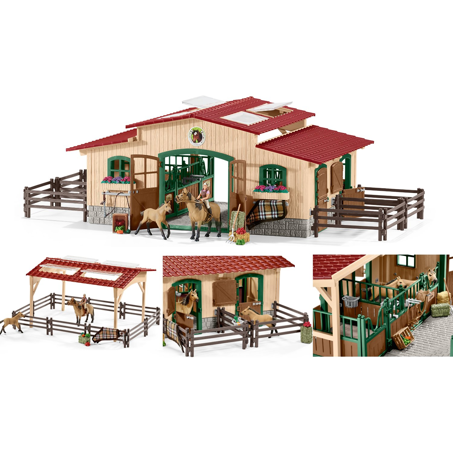Stable with Horses and Accessories (Schleich 42195)