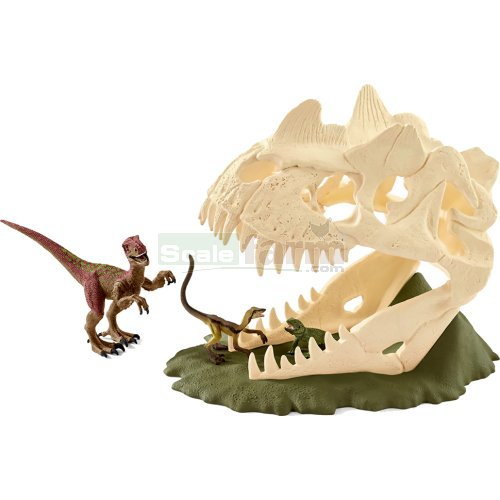 Large Skull Trap with Velociraptor, Compsognathus and Lizard (Schleich 42348)