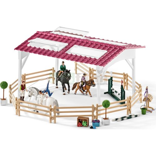 Riding School with Riders and Horses (Schleich 42389)