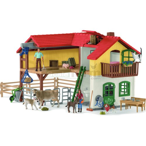 Large Farm House with Farmers, Animals and Accessories (Schleich 42407)