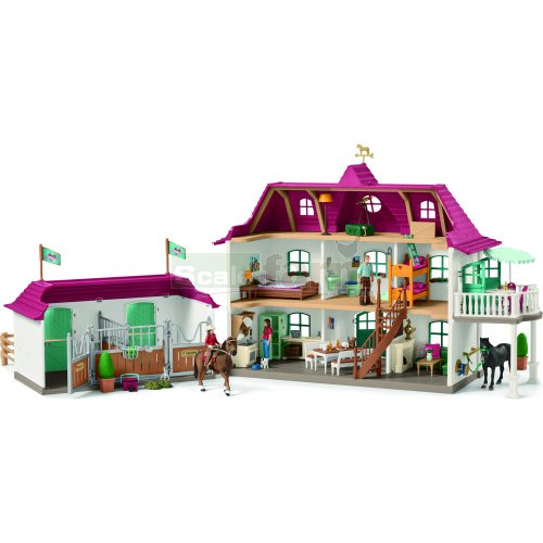 Large House with Stable, Figures, Animals and Accessories (Schleich 42416)