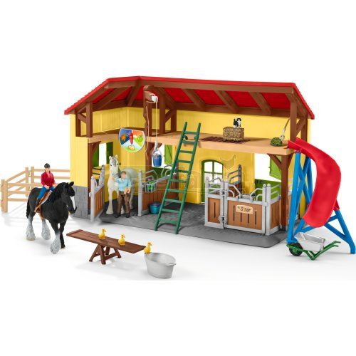 Horse Stable with Figures and Accessories (Schleich 42485)