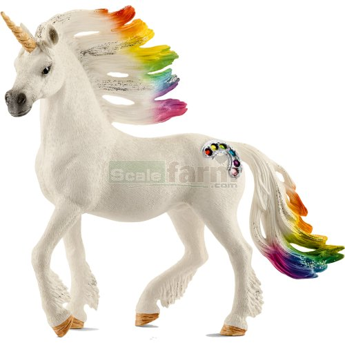 Rainbow Unicorn, Stallion (Schleich 70523)